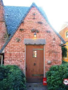 brick front door